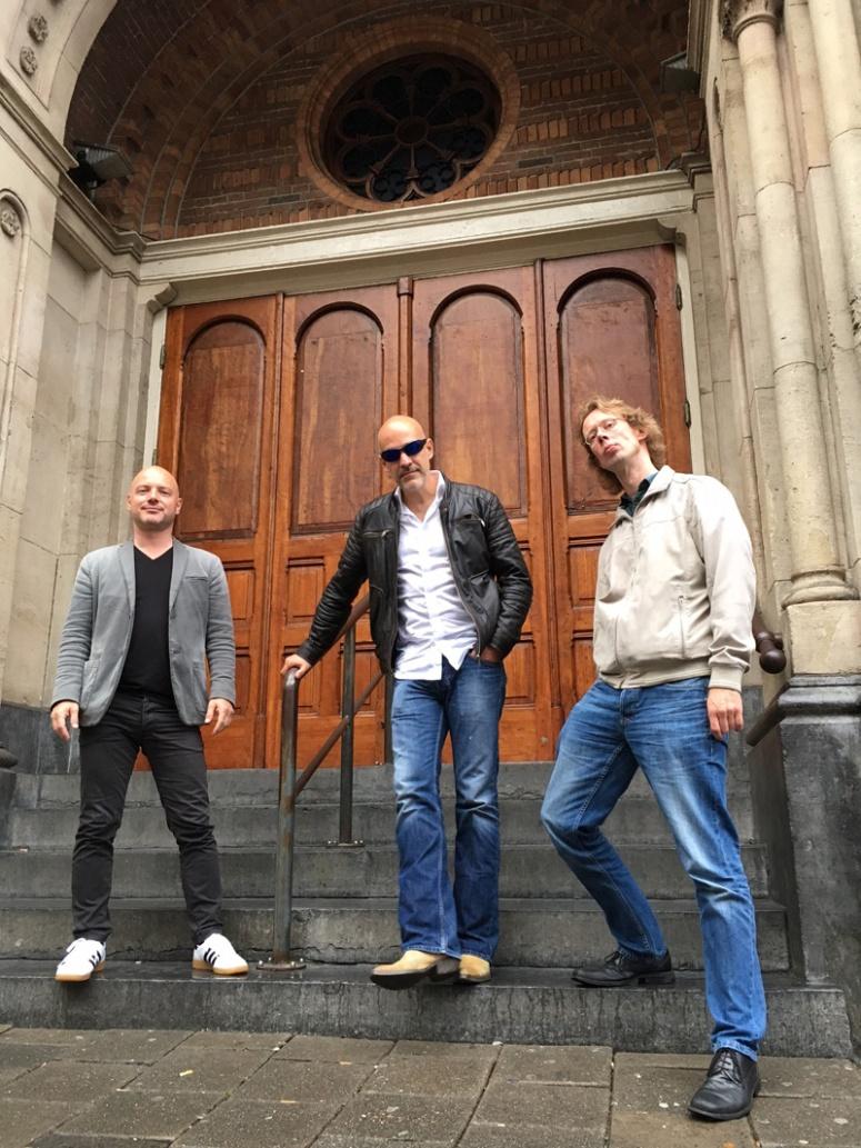 Rob, Laurens, Frans bij Paradiso (Foto Max de Ruiter