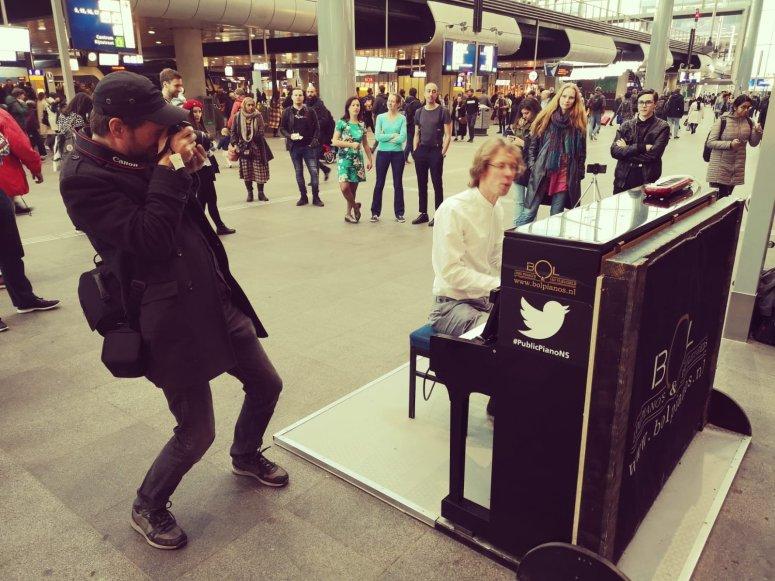 Concert in de stationshal. Foto Tatiana Glushko