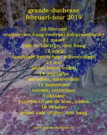 Tourposter Februari 2019