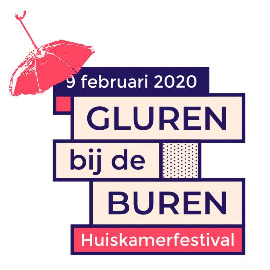 Logo Gluren bij de Buren 2020 met paraplulogo Grande-Duchesse